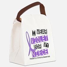 D I Wear Violet Niece 37 Hodgkins Canvas Lunch Bag