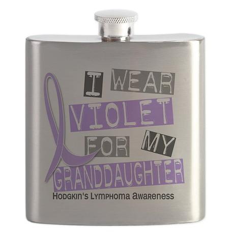 D I Wear Violet Granddaughter 37 Hodgkins Ly Flask