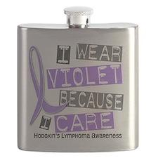 D I Wear Violet I Care 37 Hodgkins Lymphoma Flask