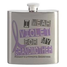 D I Wear Violet Grandmother 37 Hodgkins Lymp Flask