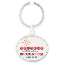 BRECKENRIDGE DARK Oval Keychain