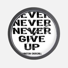 NEVER_GIVE_UP Wall Clock