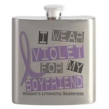 D I Wear Violet Boyfriend 37 Hodgkins Lympho Flask