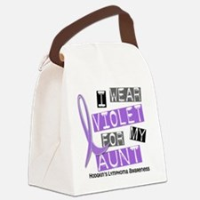 D I Wear Violet Aunt 37 Hodgkins  Canvas Lunch Bag