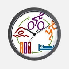 Tri_Cycle Wall Clock