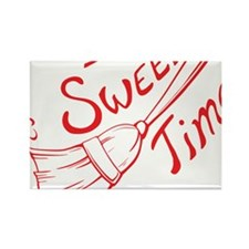 Sweep Time Red Rectangle Magnet