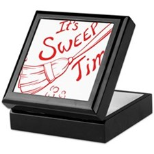 Sweep Time Red Keepsake Box