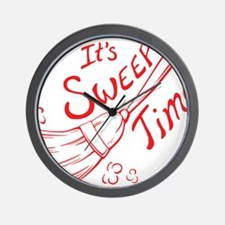 Sweep Time Red Wall Clock