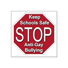 "stop_anti_gay_bullying_tran Square Sticker 3"" x 3"""