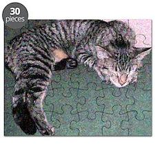 Napping Cat Pontillist Puzzle