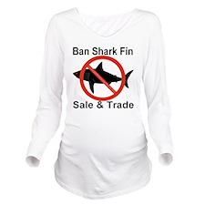 no_shark_fin Long Sleeve Maternity T-Shirt