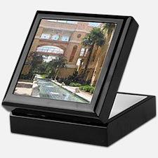 Fountain Garden Pontillist Keepsake Box