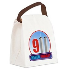 911 WTC Never Forget Canvas Lunch Bag