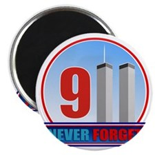 911 WTC Never Forget Magnet