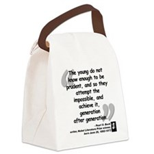 Buck Impossible Quote Canvas Lunch Bag