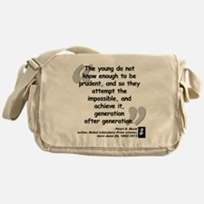 Buck Impossible Quote Messenger Bag