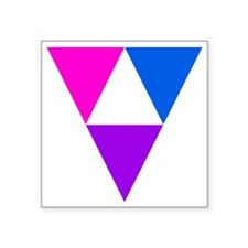 "LGBT Triforce Square Sticker 3"" x 3"""