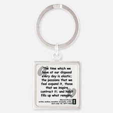 Proust Time Quote Square Keychain