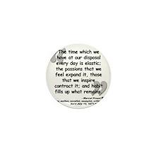 Proust Time Quote Mini Button
