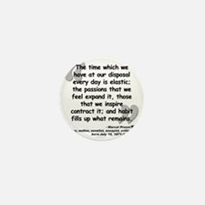 Proust Time Quote Mini Button