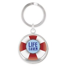 Lifesaver Round Keychain