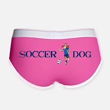 soccer dog LARGE BOWL runner blu Women's Boy Brief