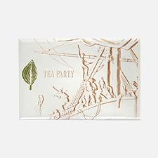 Tea_Party Rectangle Magnet