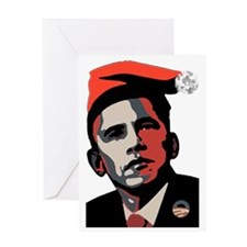 Barack_Obama_HOHOHO Greeting Card