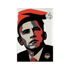 Barack_Obama_HOHOHO Rectangle Magnet