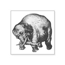 "justElephant Square Sticker 3"" x 3"""