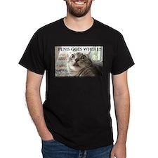 Penis goes where?! cat T-Shirt