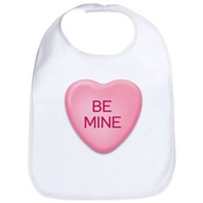 BE  MINE candy heart Bib