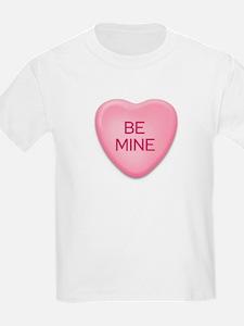 BE MINE candy heart Kids T-Shirt