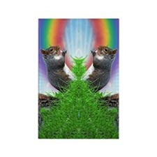 squirrel-with-rainbow_ff Rectangle Magnet