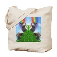 squirrel-with-rainbow_ff Tote Bag