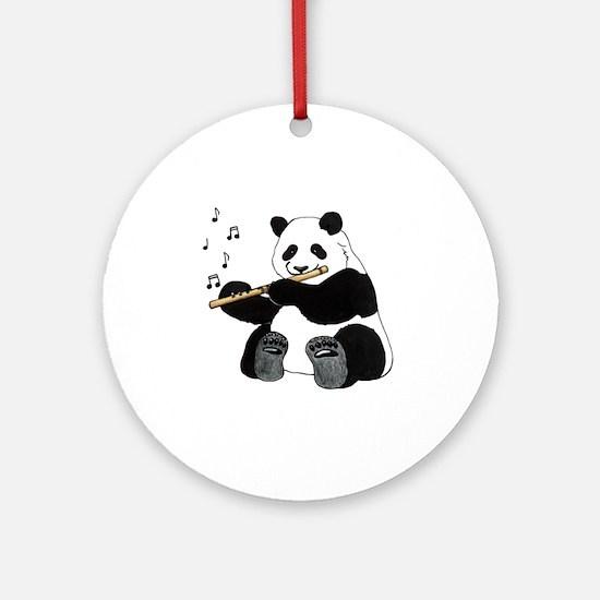 cafepress panda1 Round Ornament