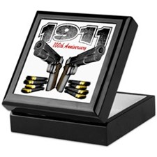 1911_100th_blk Keepsake Box