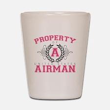 propertyofaairman2 Shot Glass