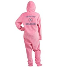 propertyofasoldierwhite Footed Pajamas