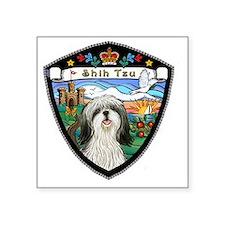 "J-ORN-CoatArms-Shih Tzu 3 Square Sticker 3"" x 3"""