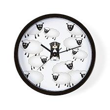 sheepies Wall Clock