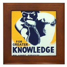 For Greater Knowledge Use Your Library Framed Tile
