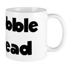 Bobble Head Black Mug