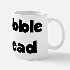 Bobble Head Black Mug