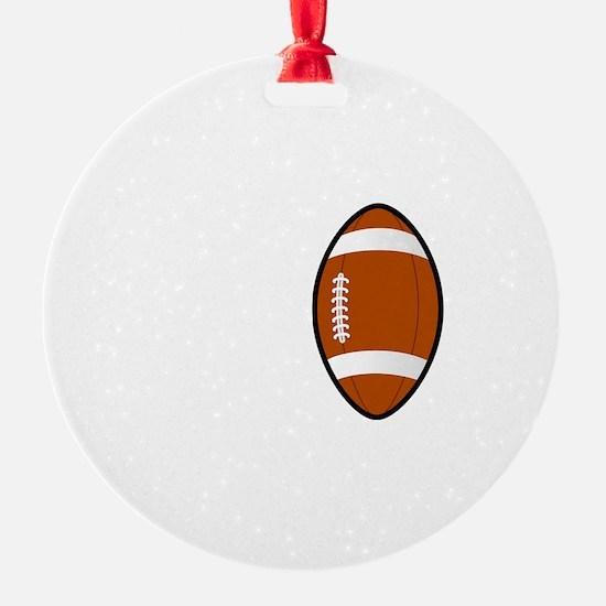 No Off Season Football White Ornament