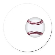 No Off Season Baseball White Round Car Magnet