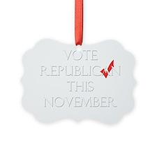 RepublicanFrontWhite Ornament