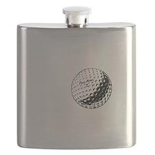 No Off Season Golf White Flask