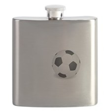 No Off Season Soccer White Flask