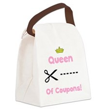 Coupon Queen Black Canvas Lunch Bag